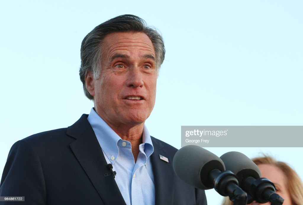 Mitt Romney Runs For Utah Senate Seat In State's Primary : News Photo