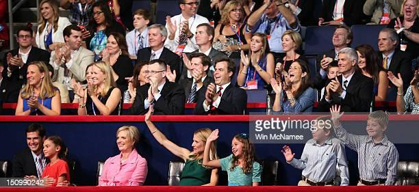 Mitt Romney's son Matt Romney with daughter Chloe Romney Mitt Romney's wife Ann Romney Paul Ryan's wife Janna Ryan daughter Liza Ryan and sons...