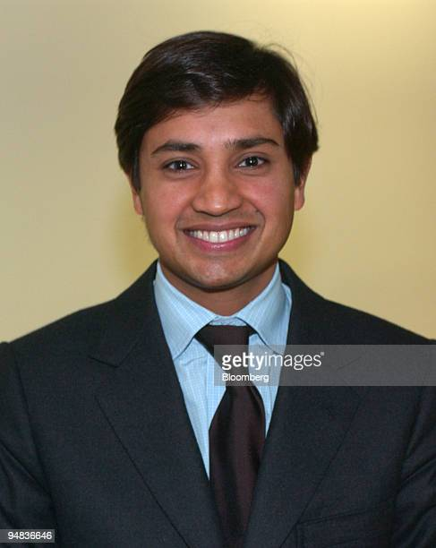Mittal Steel Co Chief Financial Officer Aditya Mittal poses in the Bloomberg offices in London Thursday February 10 2005 Mittal Steel Co the...