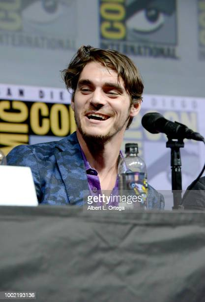 Mitte speaks onstage during the 'Breaking Bad' 10th Anniversary Celebration during ComicCon International 2018 at San Diego Convention Center on July...