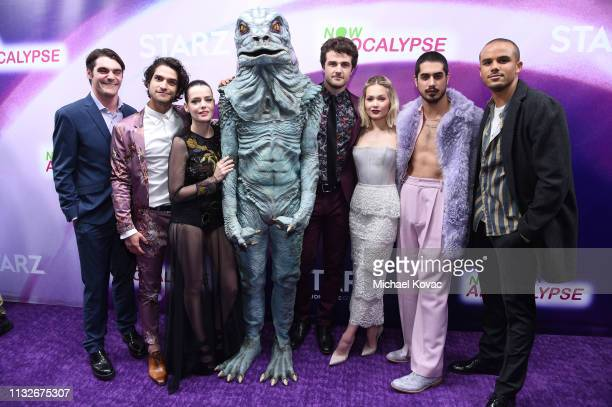 """Mitte, Tyler Posey, Roxane Mesquida, a special guest, Beau Mirchoff, Kelli Berglund, Avan Jogia, and Jacob Artist attend the """"Now Apocalypse"""" Los..."""