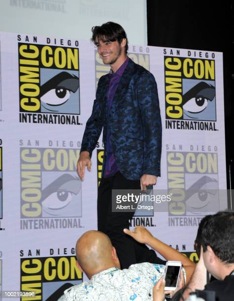 Mitte walks onstage during the 'Breaking Bad' 10th Anniversary Celebration during ComicCon International 2018 at San Diego Convention Center on July...