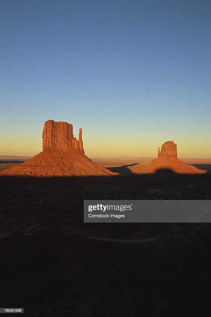 Mitten buttes , Monument Valley , Utah : Stockfoto