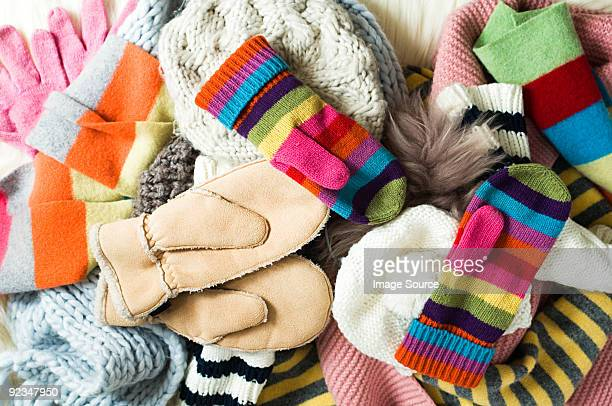 mittens - multi colored hat stock pictures, royalty-free photos & images