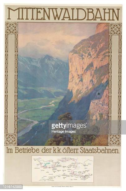 Mittenwald Railway, circa 1912. Private Collection. Artist Jahn, Gustav .