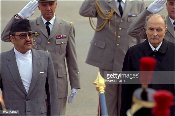 Mitterrand received the king Birendra In Paris France On September 20 1994