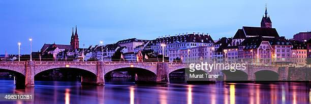Mittlere Bridge and skyline of Basel
