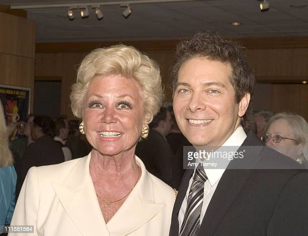 Mitzi Gaynor and Michael Feinstein during A Centennial Tribute to Harold Arlen at Academy of Motion Picture Arts and Sciences in Beverly Hills...