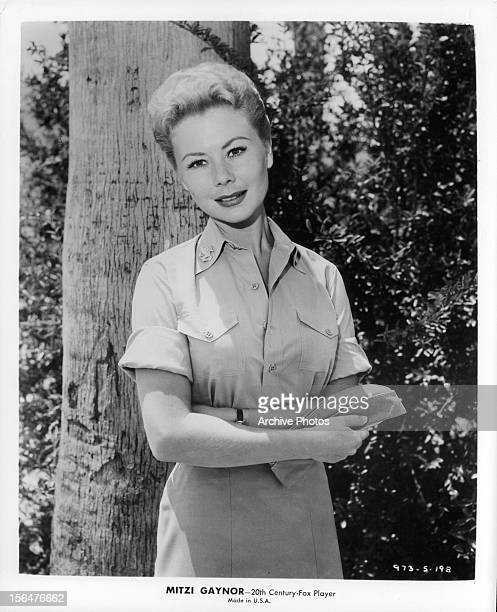 Mitzi Gaynor in publicity portrait for the film 'South Pacific' 1958