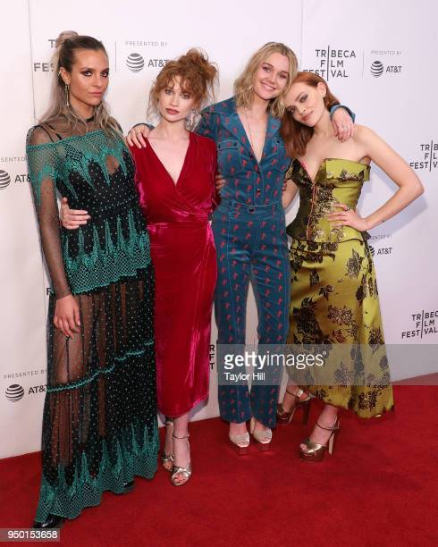 Mitzi Peirone Sarah Hay Imogen Waterhouse and Madeline Brewer attend the premiere of 'Braid' during the 2018 Tribeca Film Festival at Cinepolis...