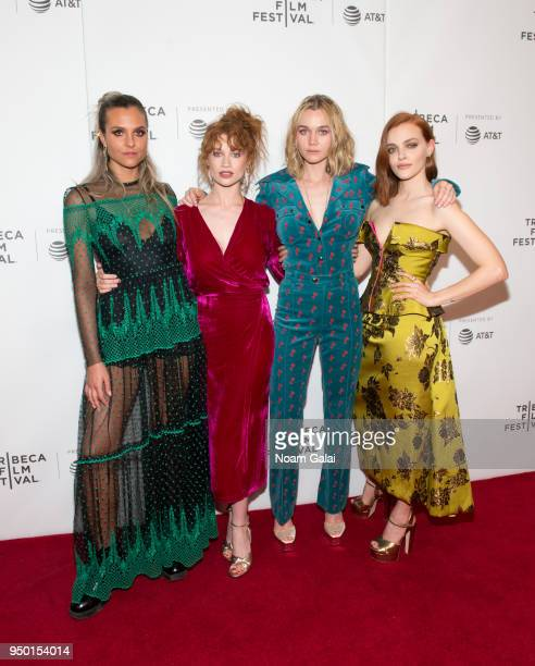 Mitzi Peirone Sarah Hay Imogen Waterhouse and Madeline Brewer attend the 'Braid' screening during the 2018 Tribeca Film Festival at Cinepolis Chelsea...