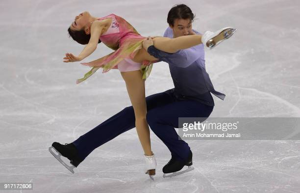 Miu Suzaki and Ryuichi Kihara of Japan skate during the Ice Dance Free Dance section of the Team Event on day three of the PyeongChang 2018 Winter...
