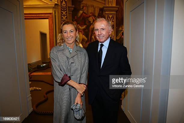 Miuccia Prada and Francois Pinault attend a private lunch and preview of 'When Attitudes Become Form Bern 1969/Venice 2013' hosted by Miuccia Prada...