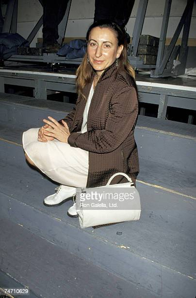 Miuccia Prada at the Bryant Park in New York City New York