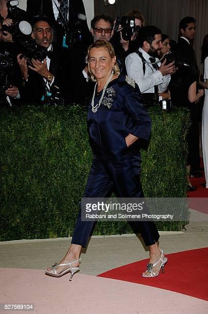 Miuccia Prada attends 'Manus x Machina Fashion In An Age Of Technology' Costume Institute Gala at