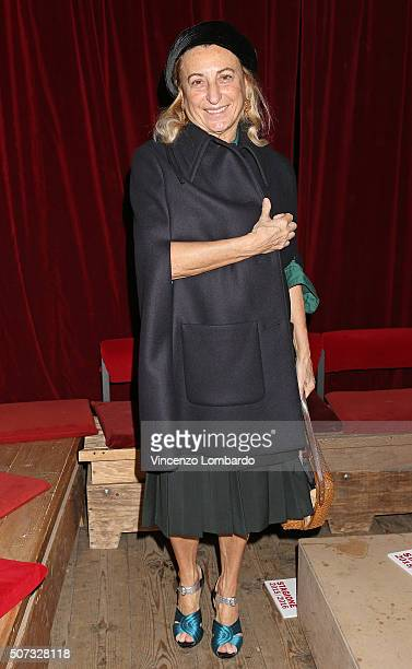 Miuccia Prada attends the 'Casa Di Bambola' Opening Night at Teatro Parenti on January 28 2016 in Milan Italy