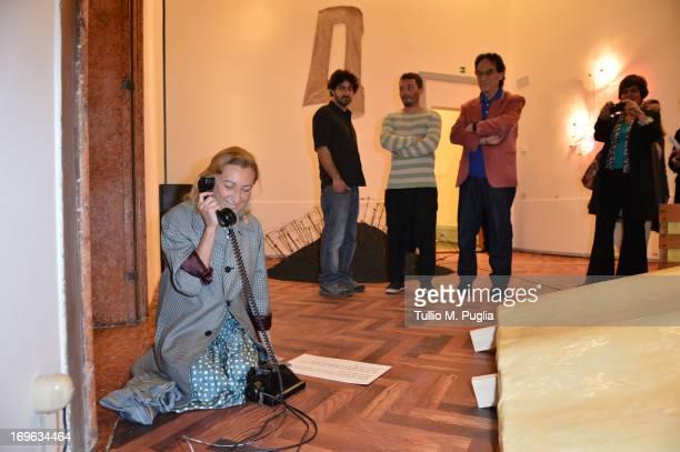 """Miuccia Prada attends the opening cocktail of """"When Attitudes Become Form: Bern 1969/Venice 2013"""" exhibition at Fondazione Prada's Ca' Corner della..."""