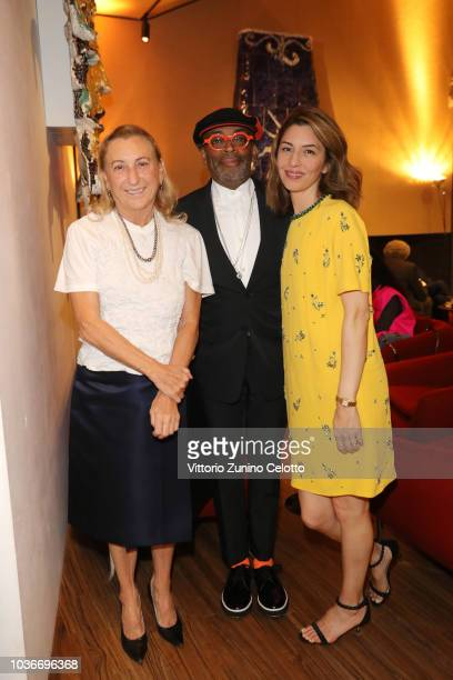 Miuccia Prada, Spike Lee and Sofia Coppola attend Prada Spring/Summer 2019 Womenswear Fashion Show on September 20, 2018 in Milan, Italy.