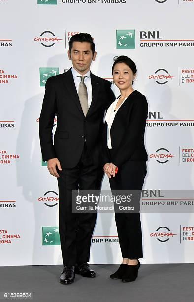 Miwa Nishikawa and Masahiro Motoki attend a photocall for 'Nagai Iiwake The Long Excuse' during the 11th Rome Film Festival on October 18 2016 in...