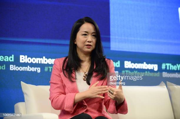 Miwako Date president and chief executive officer of Mori Trust Co speaks during the Bloomberg Year Ahead summit in Tokyo Japan on Thursday Dec 6...