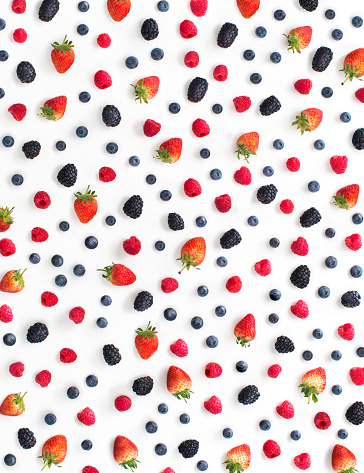 Mix berry fruits on white background. - gettyimageskorea