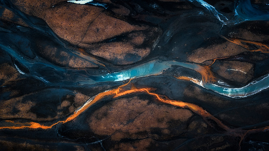 Mix color of Stream flow in to river - gettyimageskorea