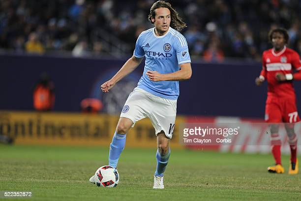 Mix Diskerud NYCFC in action during the New York City FC Vs Chicago Fire MLS regular season match at Yankee Stadium on April 10 2016 in New York City