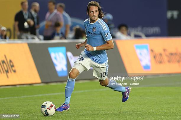 Mix Diskerud of New York City FC in action during the NYCFC Vs Real Salt Lake regular season MLS game at Yankee Stadium on June 02 2016 in New York...