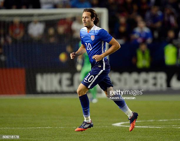 Mix Diskerud of the United States during the first half of the international friendly soccer match against of Canada at StubHub Center February 5 in...