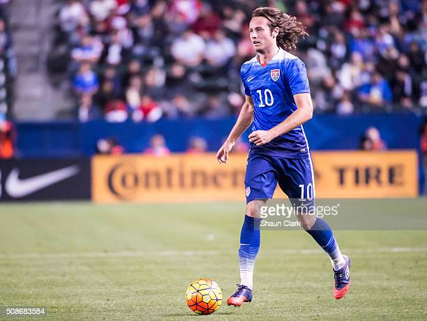Mix Diskerud of the United States during the International Soccer Friendly match between the United States and Canada at the StubHub Center on...