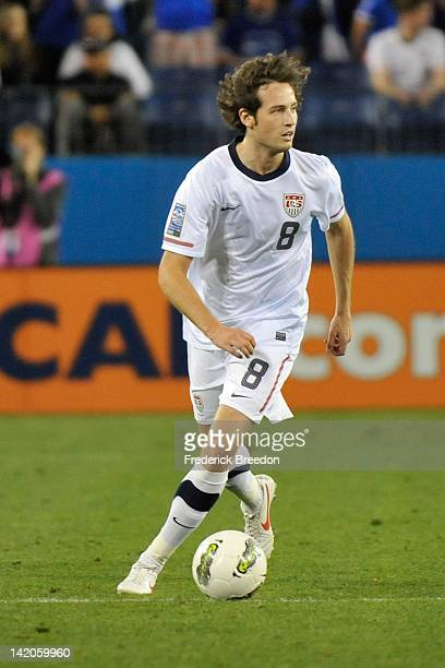 Mix Diskerud of the United States plays against El Salvador during a 2012 CONCACAF Men's Olympic Qualifying match at LP Field on March 26 2012 in...