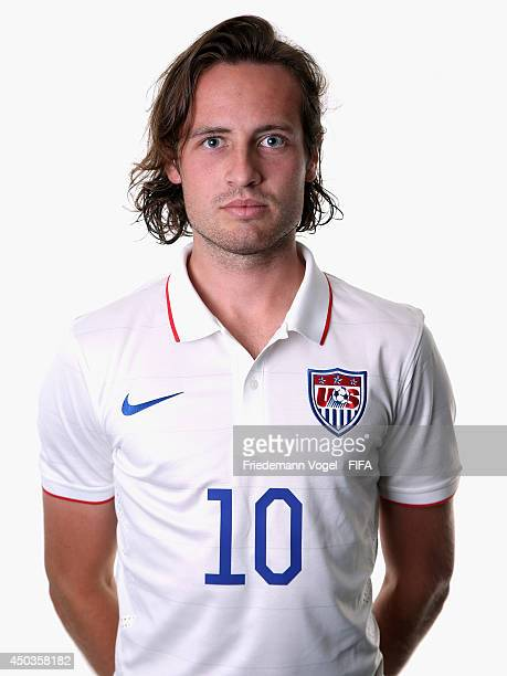 Mix Diskerud poses during the official FIFA World Cup 2014 portrait session on June 9 2014 in Sao Paulo Brazil