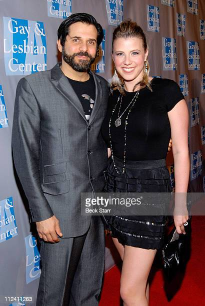 Mix master DJ Morty Coyle and his wife actress Jodie Sweetin of Full House arrive to support The Gay and Lesbian Center's gala An Evening With Women...