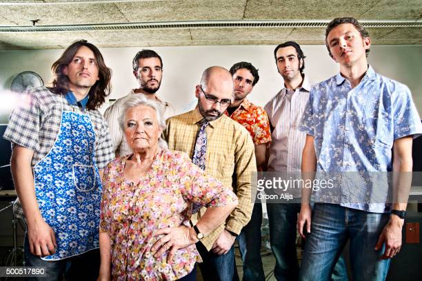 mixed age rock band - generation gap stock pictures, royalty-free photos & images