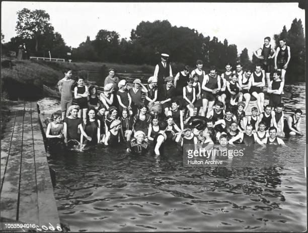 Mixed bathing in the Thames at Weybridge Weybridge