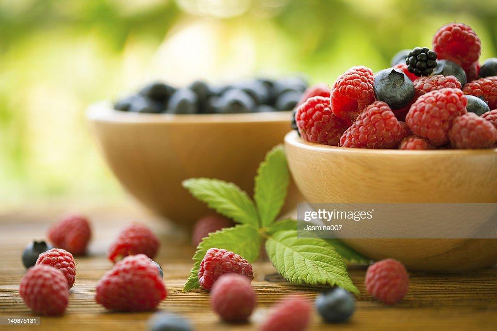 Mixed berries : Stock Photo