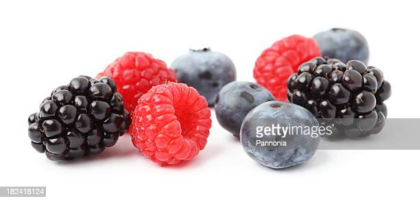 mixed berries - blackberry fruit stock pictures, royalty-free photos & images