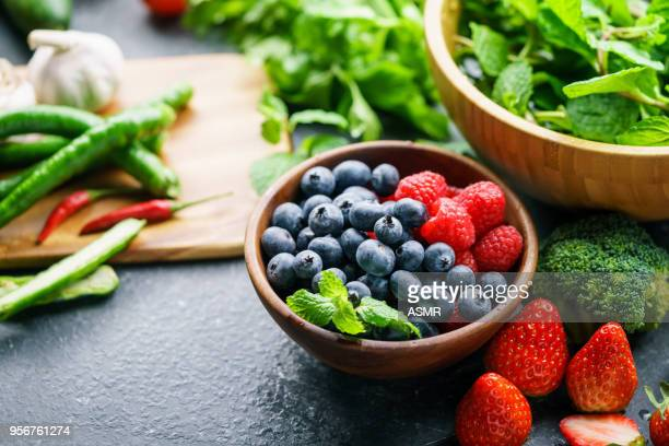 mixed berries - healthy lifestyle stock pictures, royalty-free photos & images