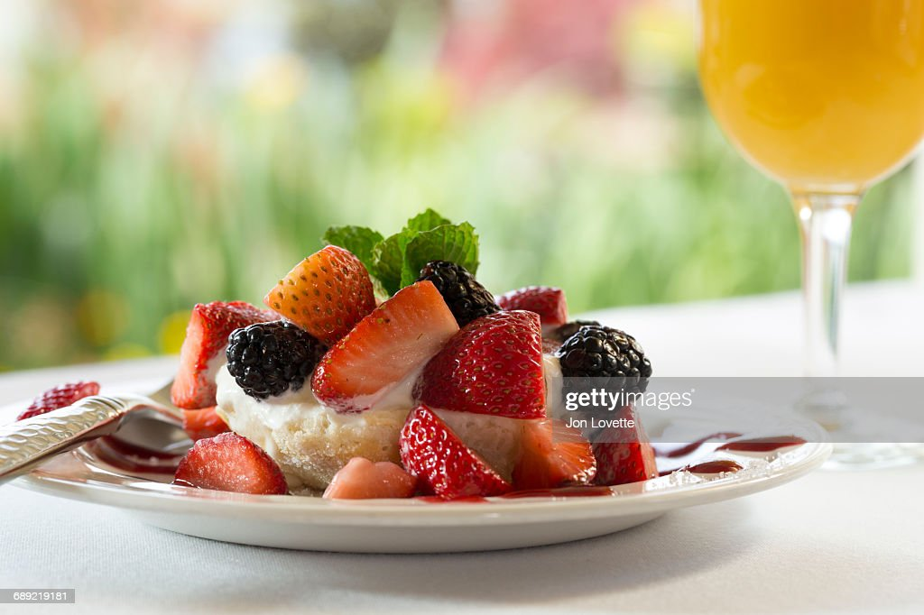 Mixed Berry Shortcake : Stock Photo