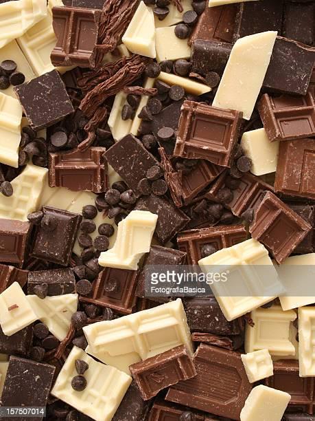Mixed chocolate chunks
