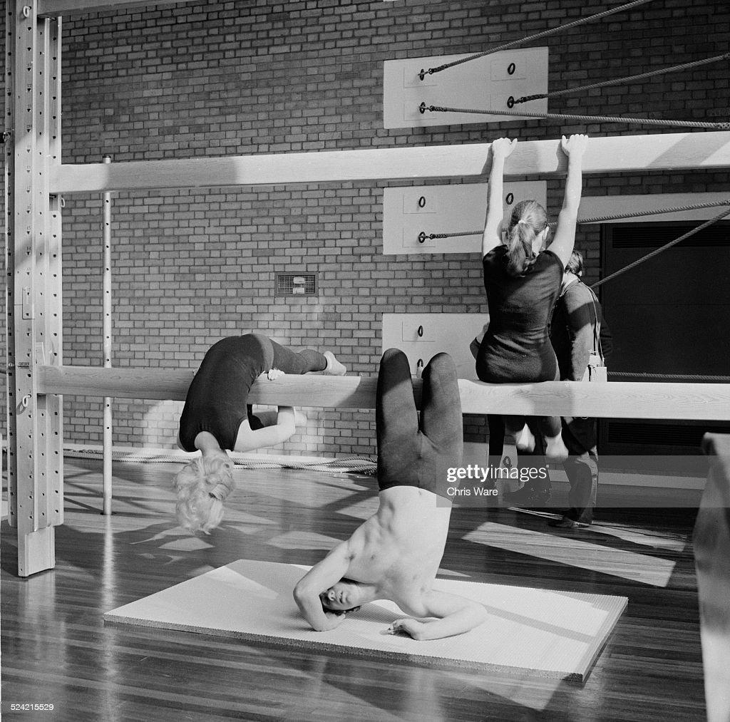 Rhythmic Gymnastics Equipment New York: A Mixed Class Performs Rhythmic Gymnastics On The New Gym