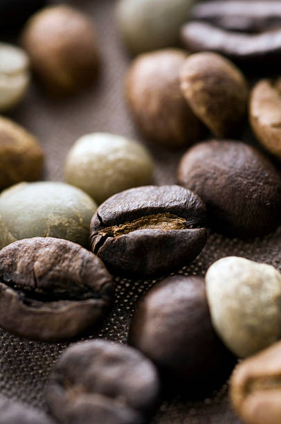 Mixed coffee beans