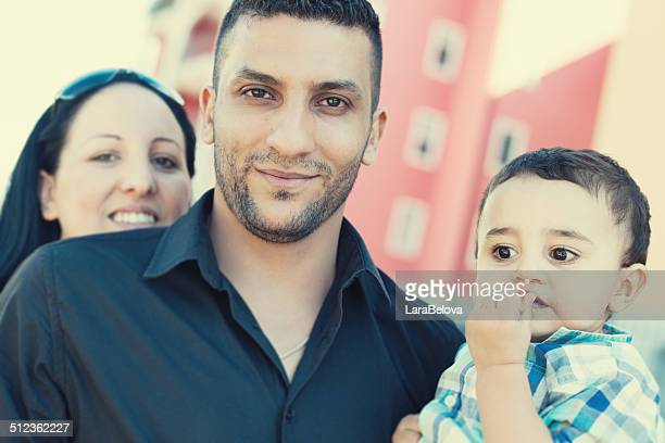 Mixed couple with child