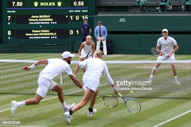 Mixed Doubles Jamie Murray Victoria Azarenka v Robert Farah AnnaLena Groenfeld Robert Farah and AnnaLena Greenfield both lunge for the ball as...
