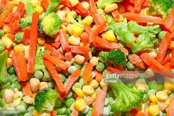 congelato verdure miste - frozen foto e immagini stock