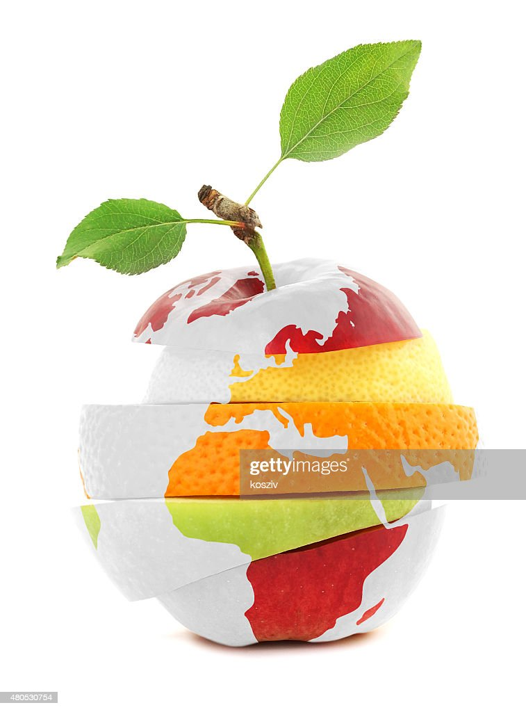 Mixed Fruit and Earth : Stock Photo