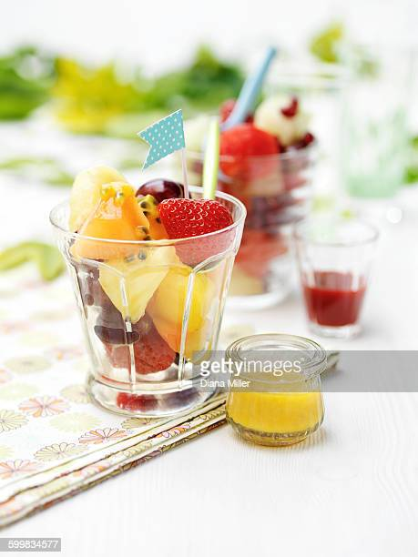Mixed fruit in glass