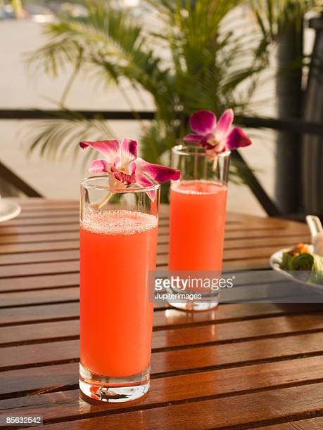 mixed fruit juice - garnish stock pictures, royalty-free photos & images