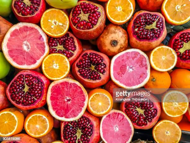 mixed fruits. - citrus fruit stock pictures, royalty-free photos & images