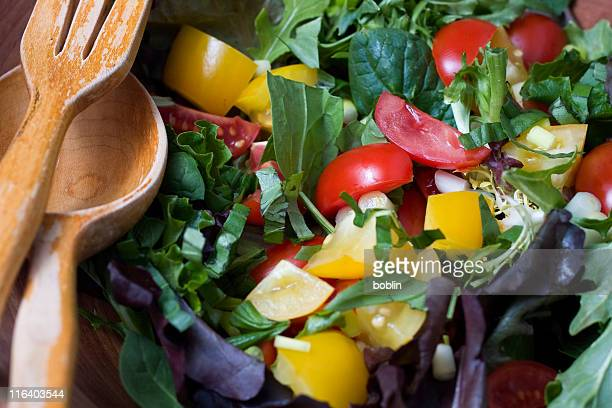 mixed green salad - green salad stock pictures, royalty-free photos & images